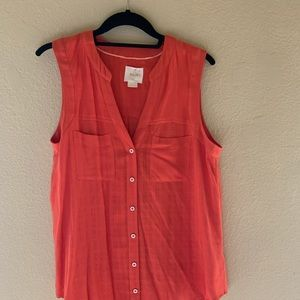 Maeve from Anthropologie blouse orge with buttons